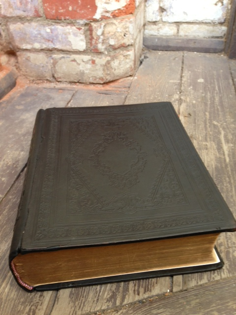 The newly restored family Bible