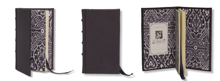 Black Leather Slimline Journal