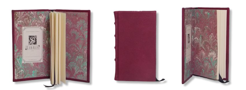 Leather Journal - Crimson Slimline