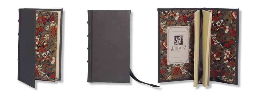 Grey Leather Slimline Journal