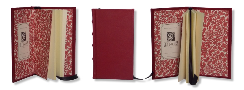Red Leather Slimline Journal