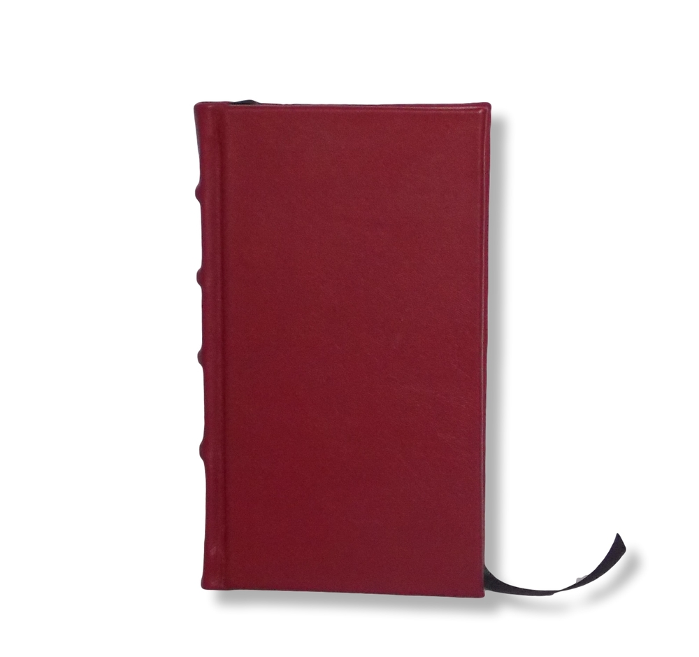 Slimline Leather Journal in Red