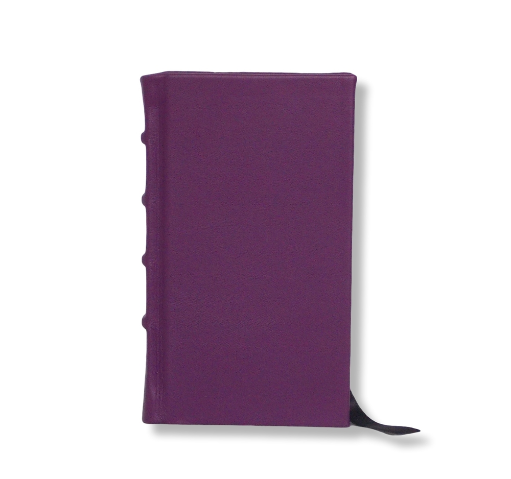 Slimline Leather Journal in Purple