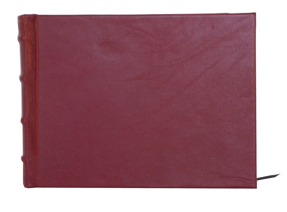 Full Leather Signature Book in Red