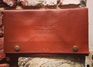 Personalised travel wallet - Blind embossed initials