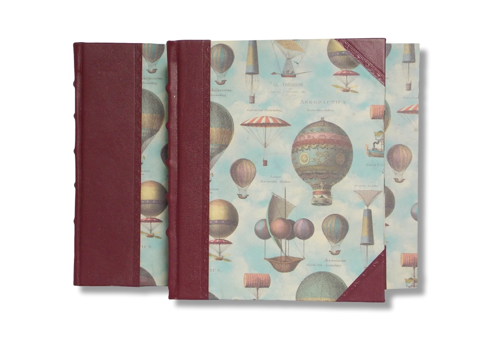 Pictured: Landscape album in Hot-Air Ballon design (back) and Portrait sized Hot Air Balloon album (back)