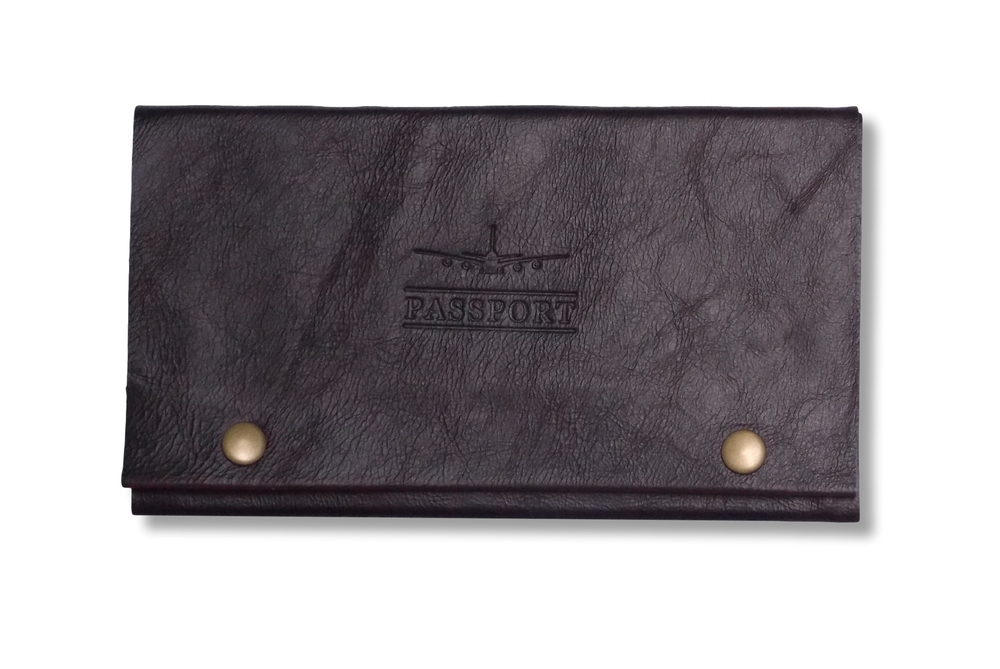 Leather Travel Wallet in Black.   - Keep your passport, foreign currency and travel cards organised in this stylish travel accessory.  Other colours available - $125