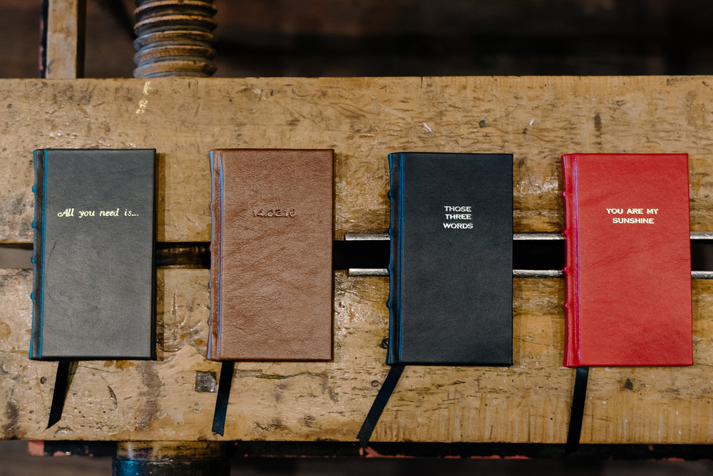 Personalised Leather Slimline Journals