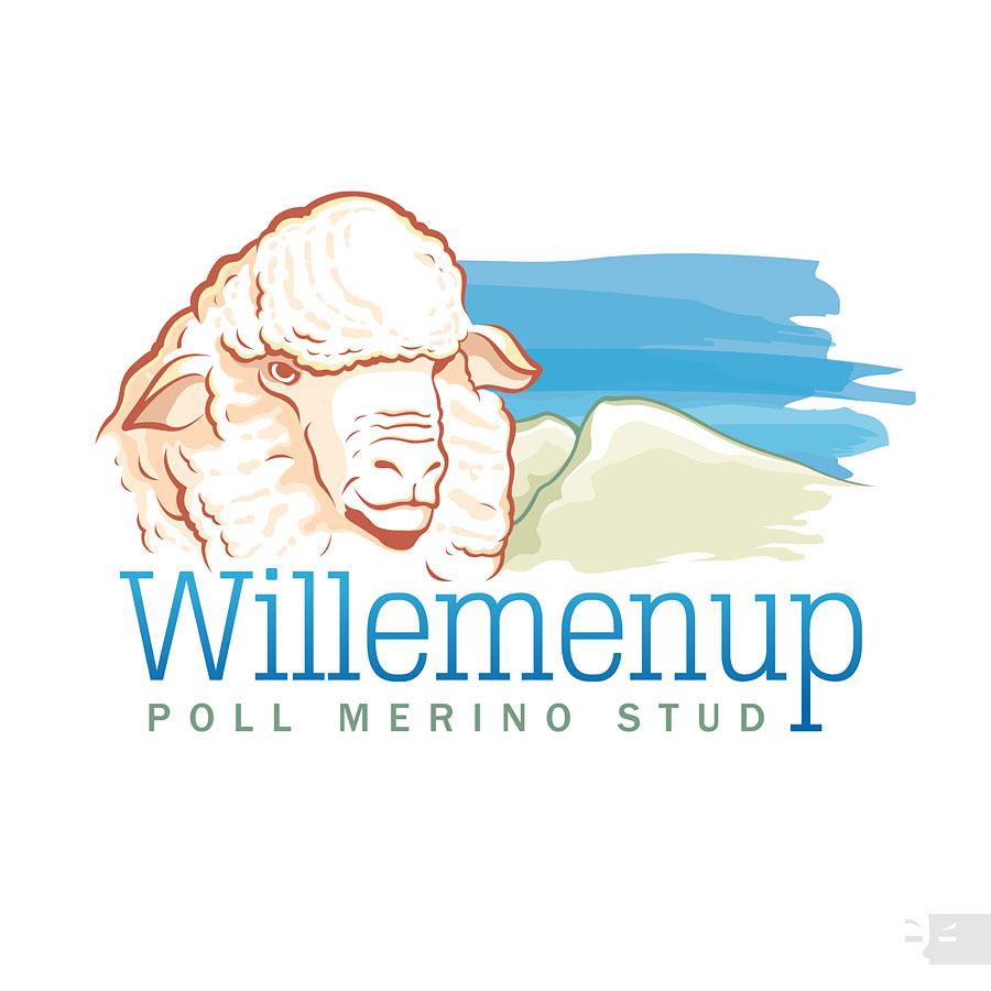 LOGO  DESIGN  Willemenup Poll Merino Stud - Gnowangerup WA