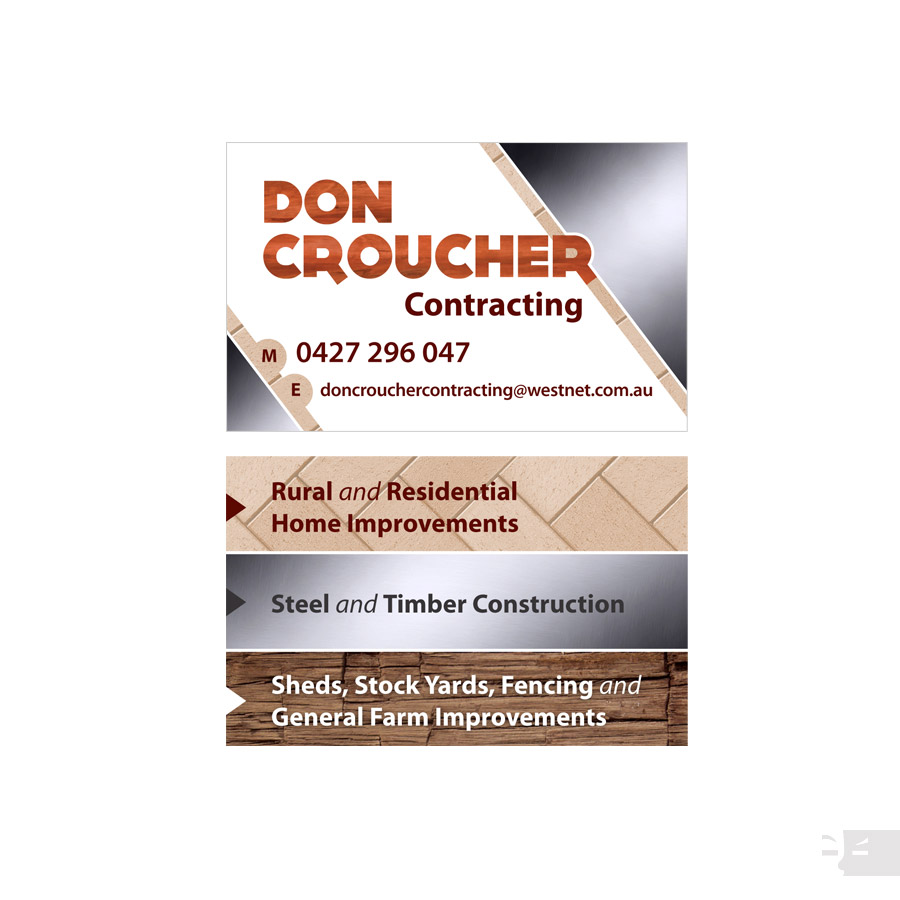 BUSINESS CARD DESIGN  Don Croucher Contracting - Great Southern WA