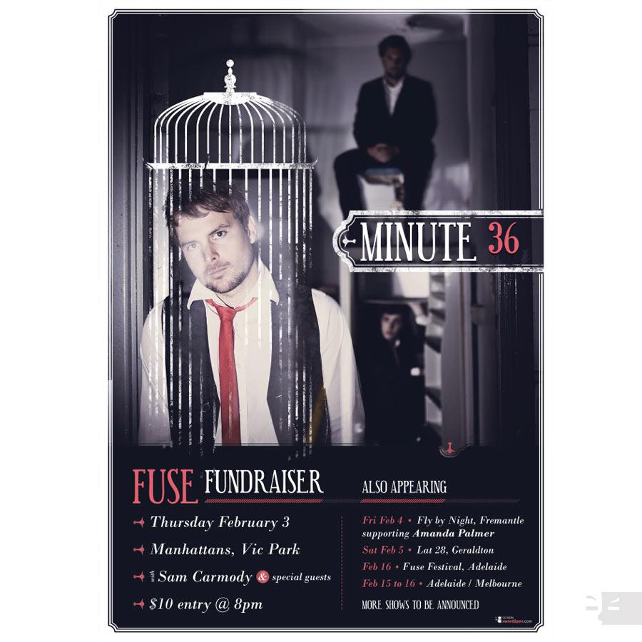 POSTER DESIGN  Minute 36 Fuse Fundraiser - WA