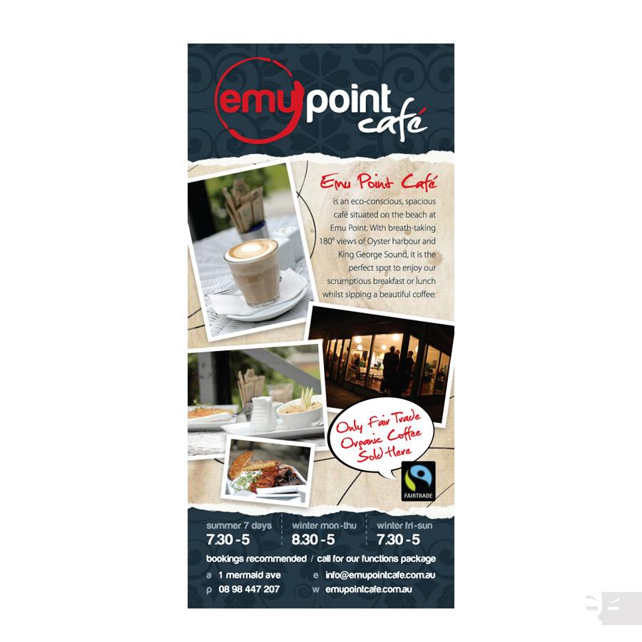 DL CARD  DESIGN  Emu Point Cafe - Albany WA
