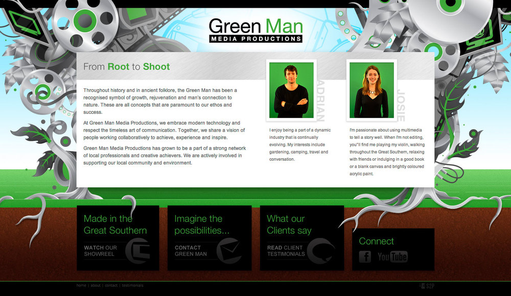WEB INTERFACE DESIGN  Green Man Media - Great Southern, WA
