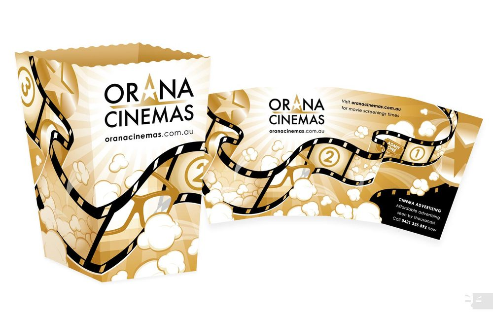 PACKAGING DESIGN  Orana Cinemas - Popcorn Box - Western Australia
