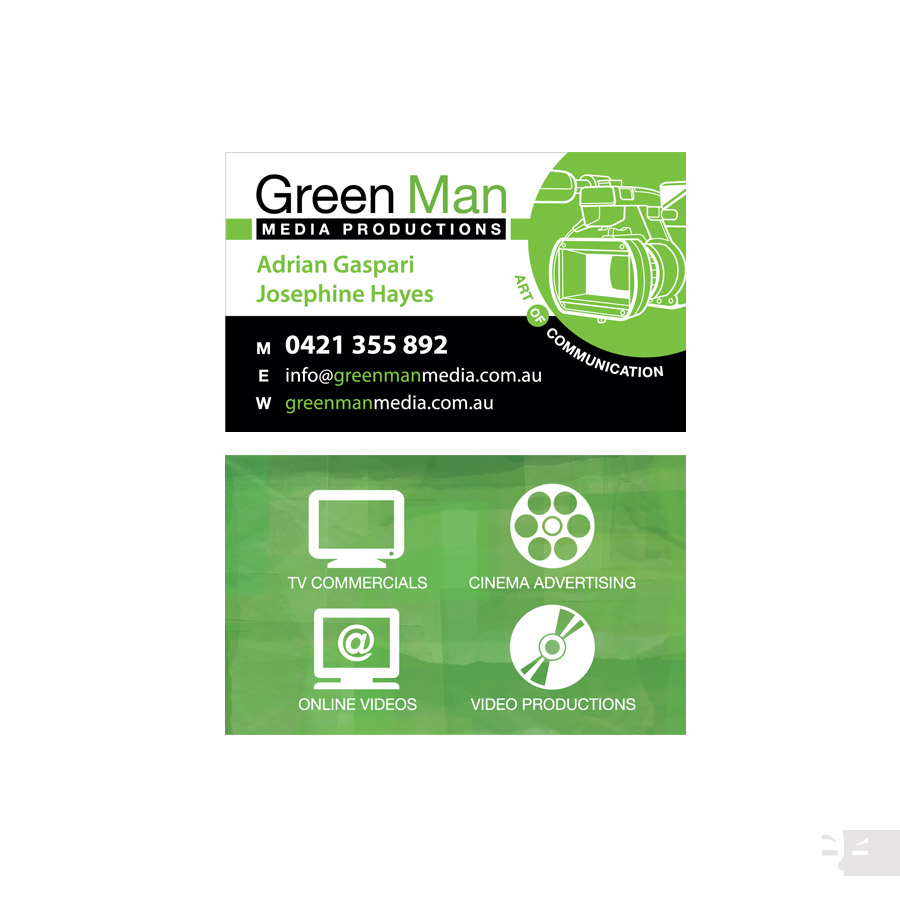 BUSINESS CARD DESIGN  Green Man Media - Great Southern WA