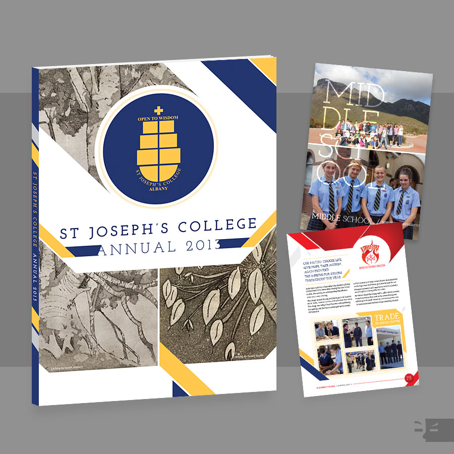 ANNUAL (2013) DESIGN  St Joseph's College - Albany, WA