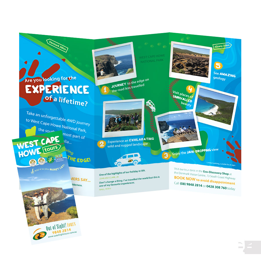 DL CARDDESIGN  Out Of Sight Tours - West Cape Howe - Great Southern WA