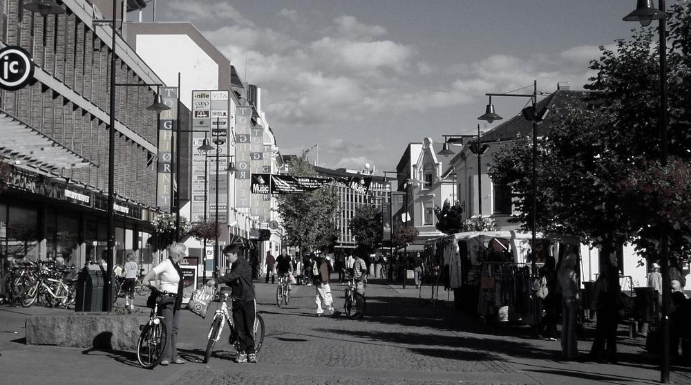 Torggata i Hamar - på en god dag. Foto: Leynor, Wikipedia Commons.