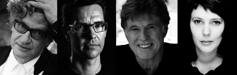 From the left: Wim Wenders, Michael Madsen, Robert Redford and Margreth Olin. Image credit: Neue Road Movies GmbH