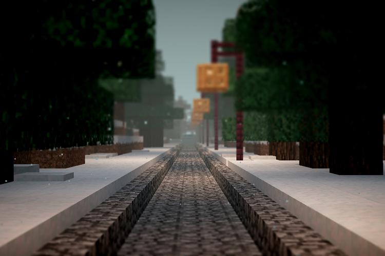 Utsnitt fra Minecraft.  illustrasjon av  はちよん  (C)  Creative Commons  .