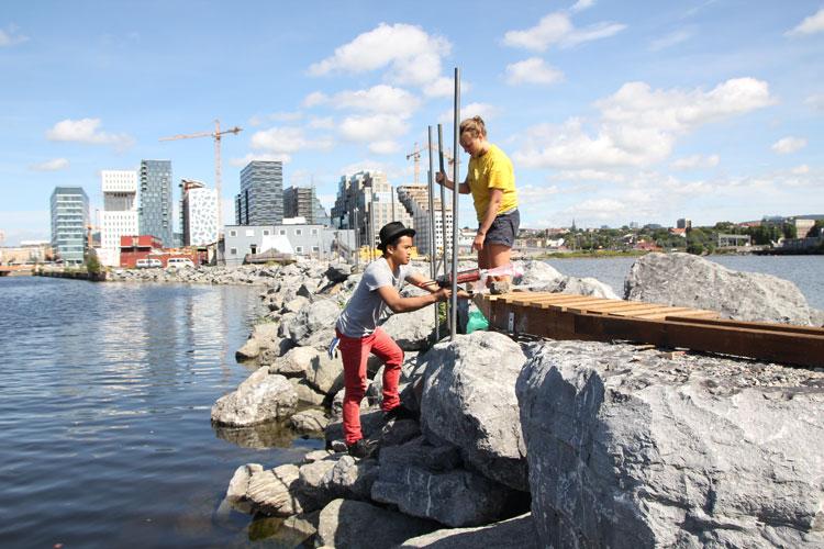 Bygging av Naustet, Oslo 2012.Foto: TreStykker