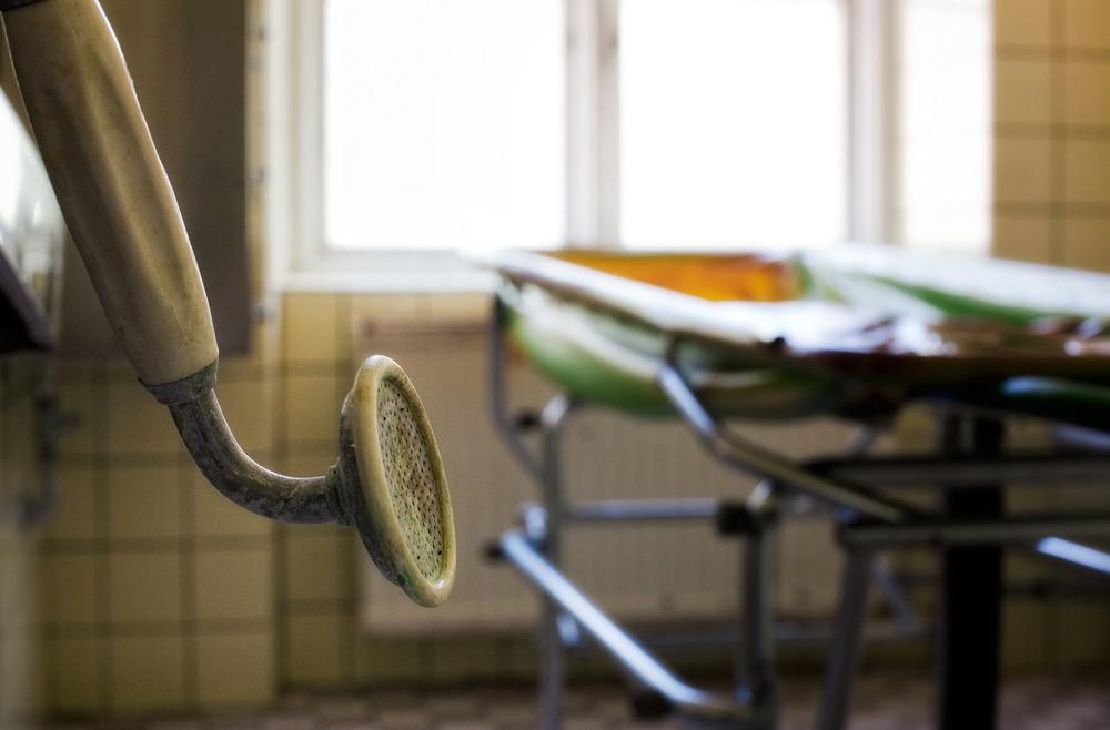 The Showerhead En gammel dusj i et forlatt sykehus i nabolandet Sverige.