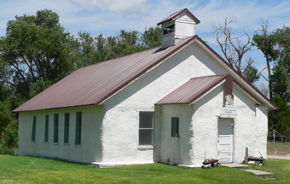 Kirke av halm i Nebraska, bygget i 1928 foto: Ammodramus  CC BY 3.0 via Wikimedia Commons