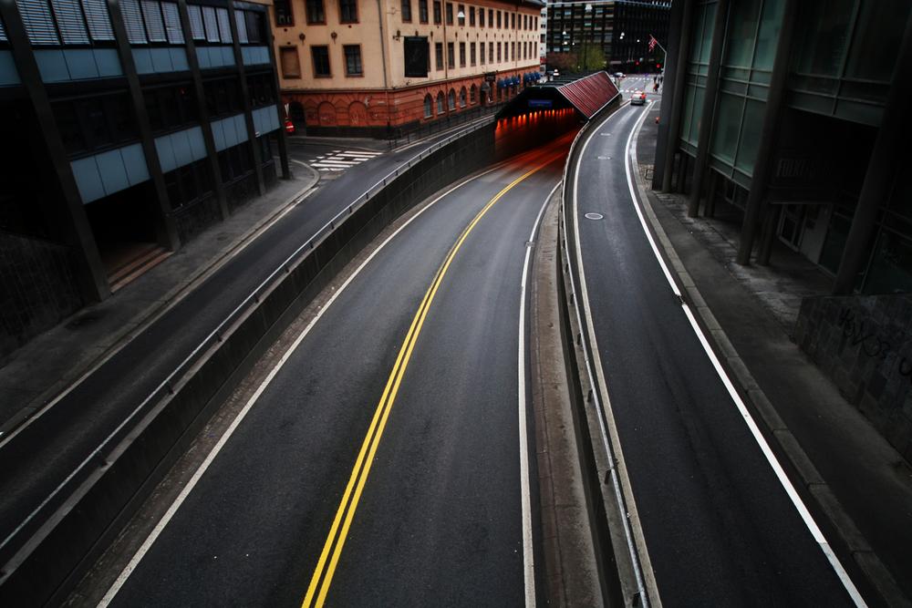 Hammersborgtunnelen i Oslo fot: Hilde SkjølbergCC BY 3.0 via Flicker