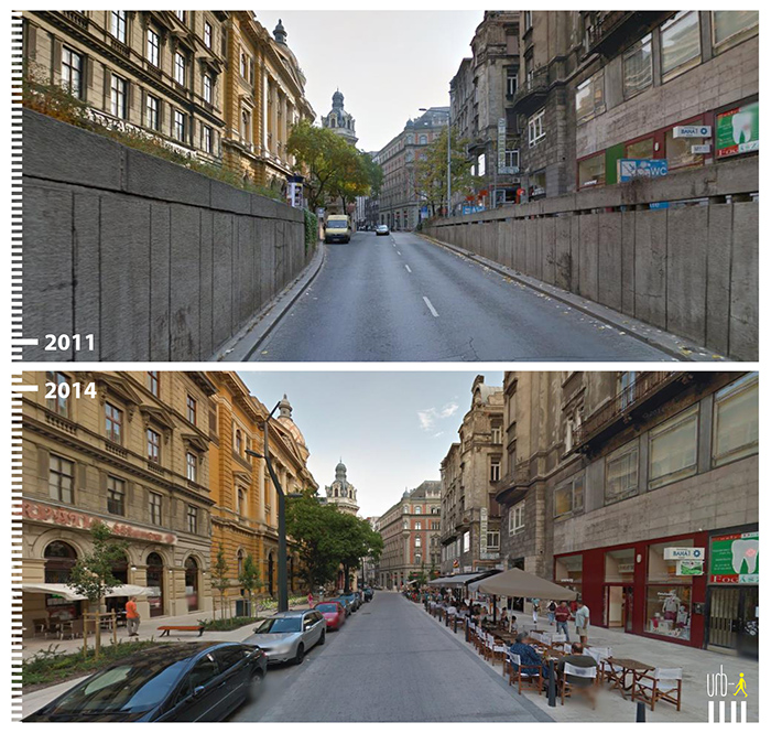 "Photo: Ferenciek tere, Budapest,  ""Urb-I"" (Google Street View)"
