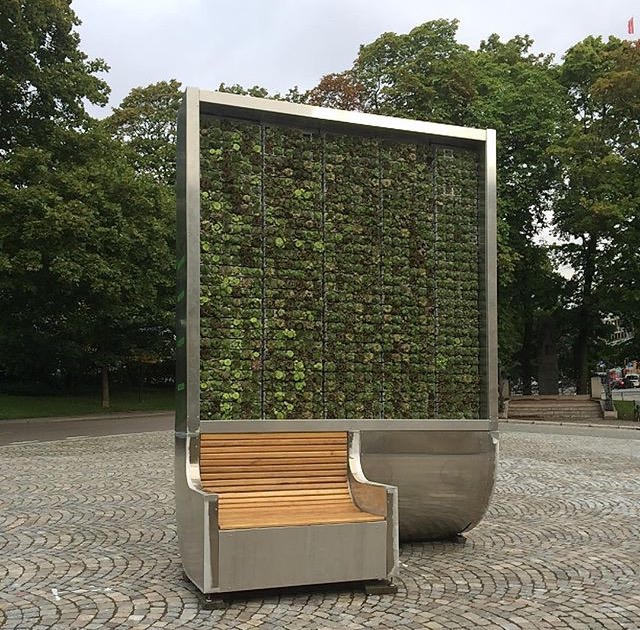 Green City Tree på Nordraaks plass i Oslo foto: Stine Ingjer Eriksen