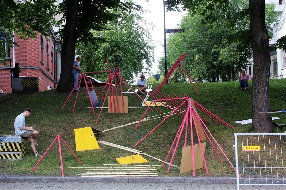 Studentarbeidet Bølgen foto: Kristin Solhag Næss