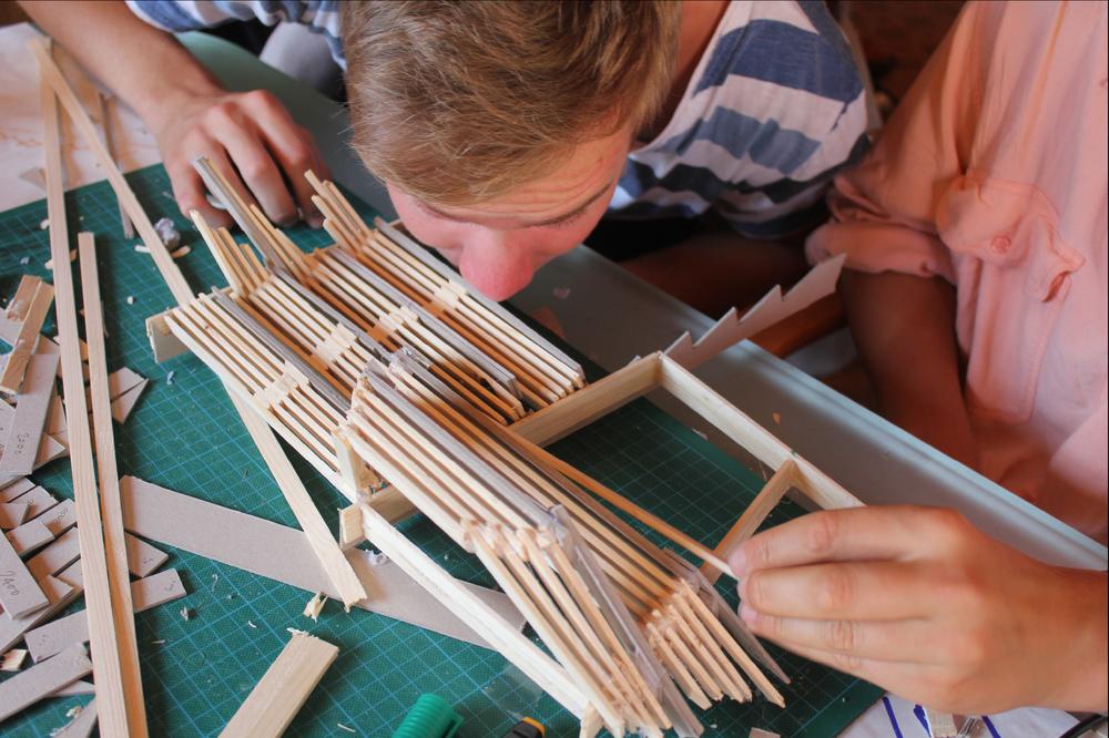 Bygging av Bølgen foto: Kristin Solhag Næss