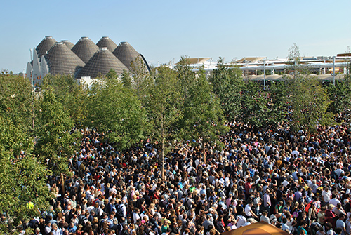 Inngangen til Expo området.Foto: Ingunn Cecilie Hvidsten