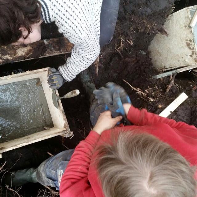 Støping av fundamenter. Foto: Sveinnug Gjessing