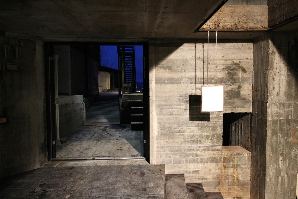 Inngangen til silokjelleren på BAS Foto: Preben Holst