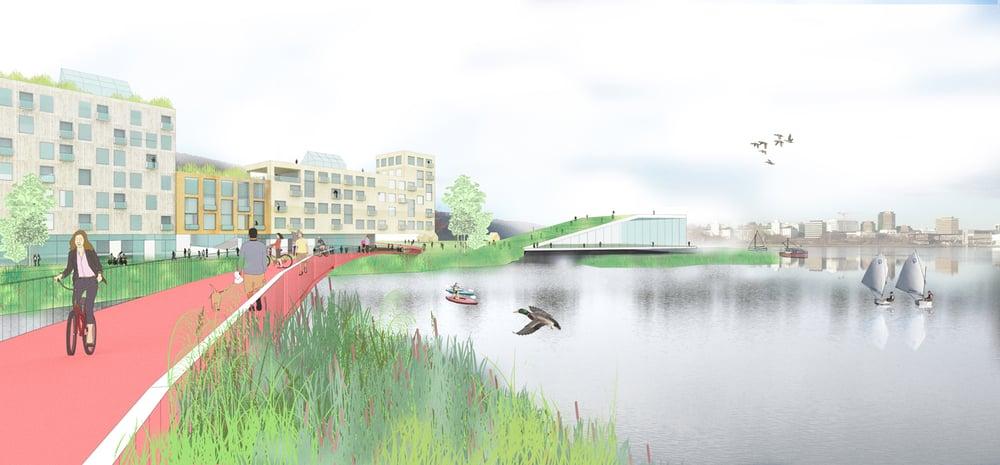 Landskapsperspektiv Illustrasjon: Lala Tøyen og Kåmmån