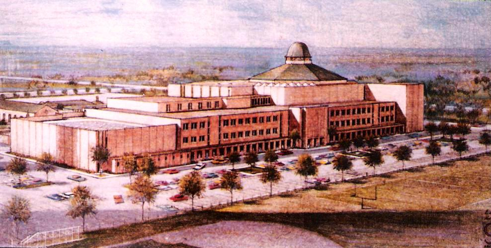 The Second Baptist Church Houston, rendering by E. Reichert and C.T.J.& D. Architects