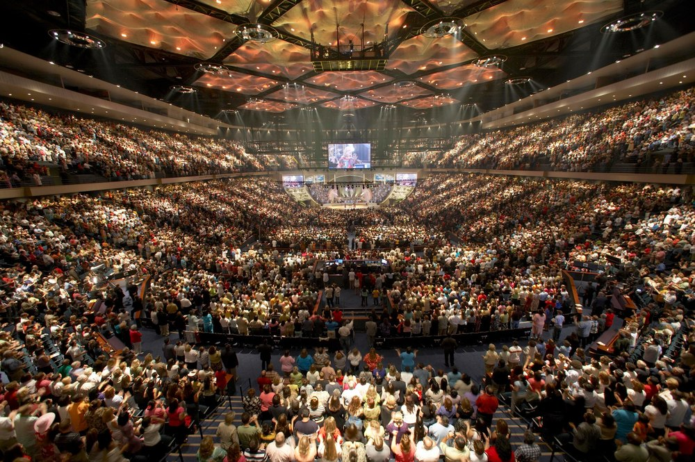 Lakewood Church, USAs største. Kilde:  wiki commons
