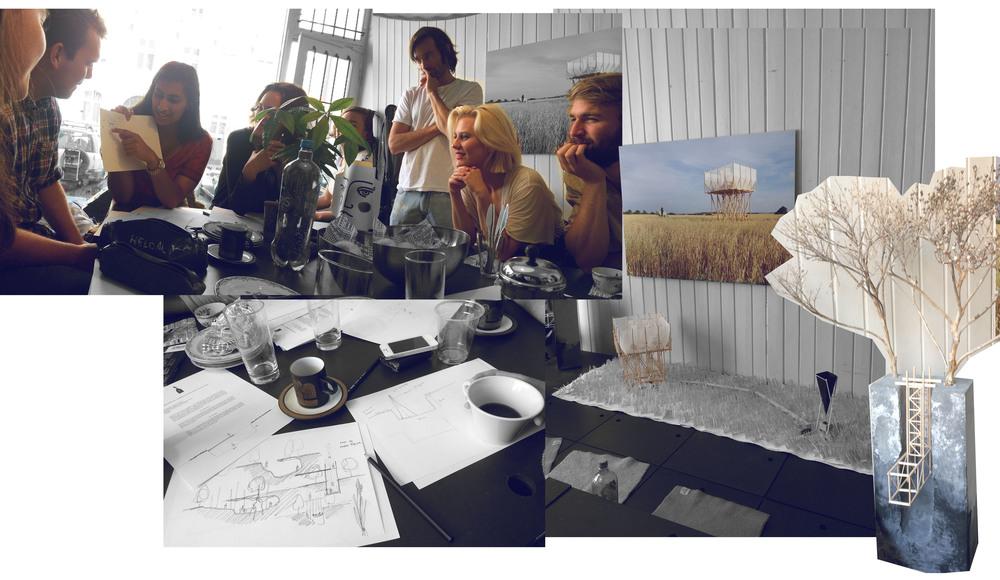 Collage Gartnerfuglen: Andrea Ellefsen