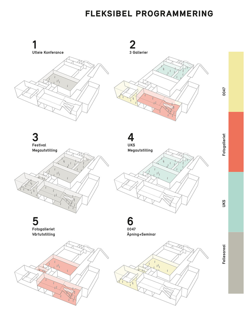 Studie i muligheter for samlokalisering. Illustrasjon: Transborder Studio