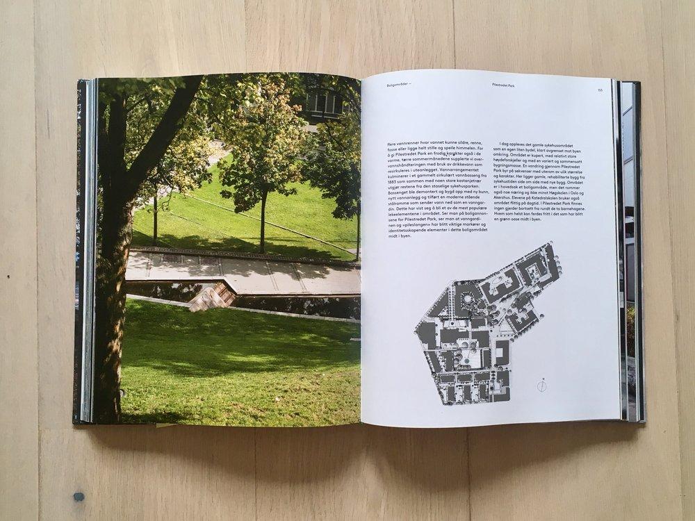 Et oppslag i boka, fra kapittelet om boligområder.