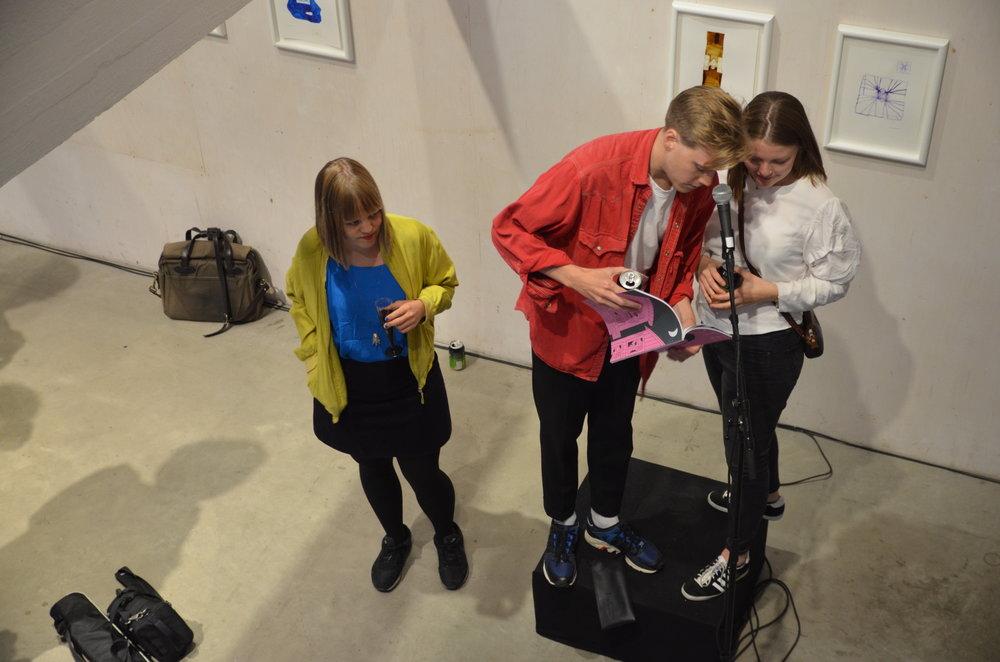 Redaktørene av +Kote #9: Hedda Aarrestad, Bengt Magnus Sjøberg Carlson, Kjersti Børve Skjelbreid