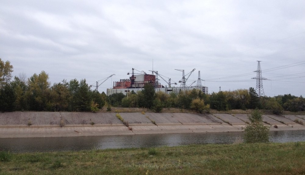 I 1986 var kranene i full gang med å bygge ut flere reaktorer, siden har de stått stille.