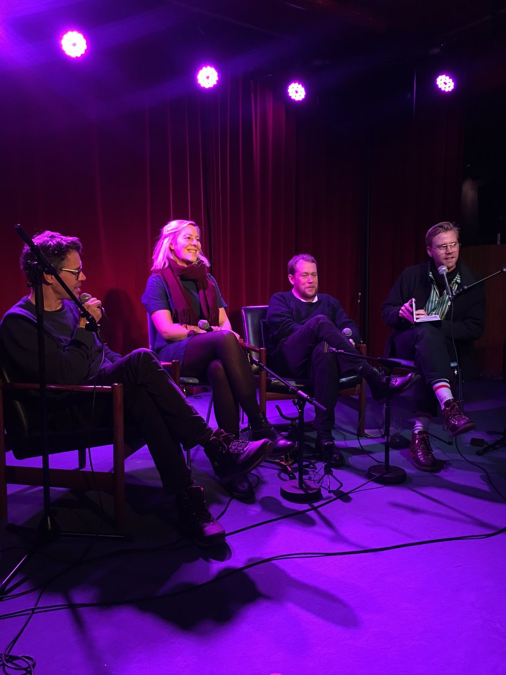 fra venstre: Dan Hallemar, Astrid Humerfelt, Joakim Skajaa og Bengt Magnus S. Carlson (foto: Magnus Forsberg)