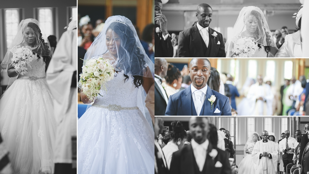 I met Isaac at the aisle, he seemed cool, calm and collected. Until the music sounds for the bride to enter. A rush of nerves, anticipation and happiness rolled across his face and captured in one frame (Middle right)