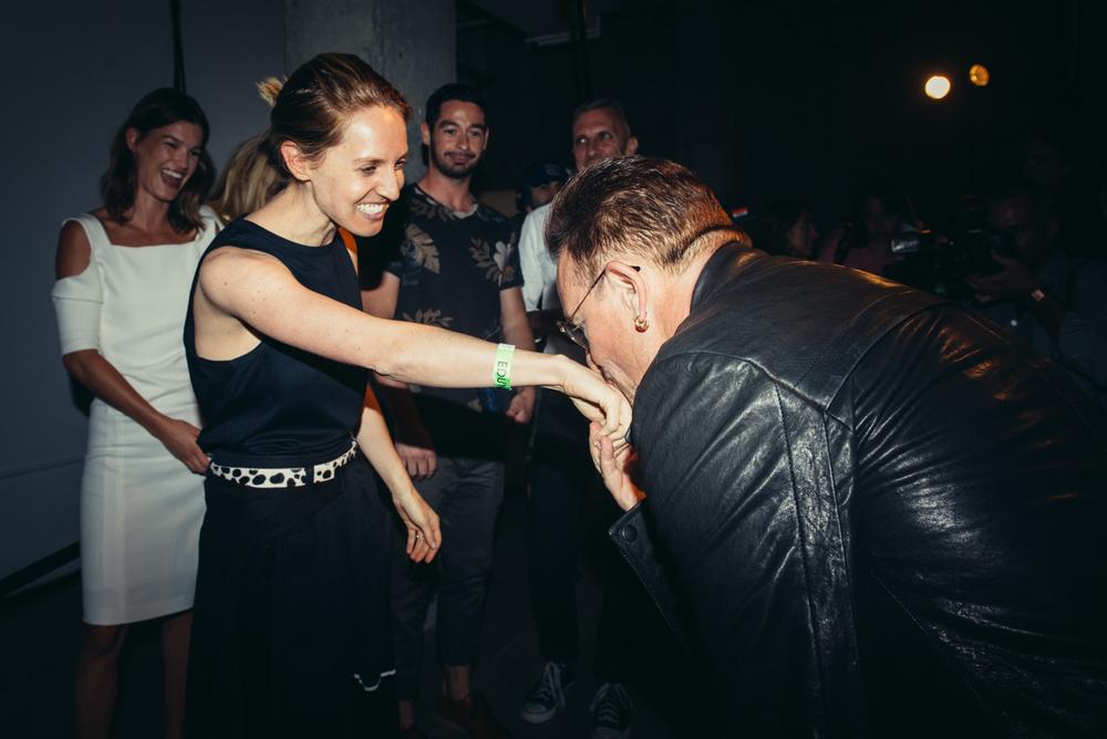 Danielle Sherman and Bono | Edun