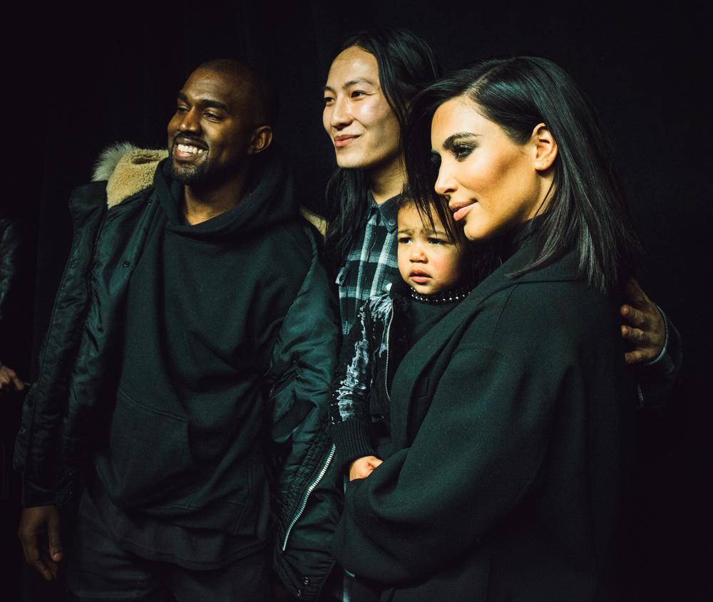Kanye, Alexander Wang, Kim Kardashian West, and North West | Alexander Wang