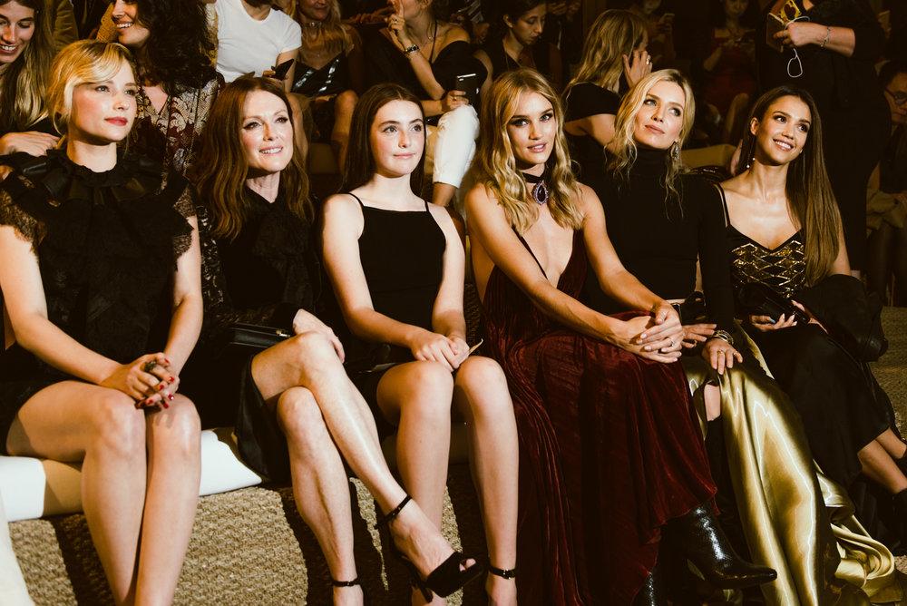Haley Bennett, Julianne Moore, Liv Freundlich, Rosie Huntington-Whiteley, Annabelle Wallis and Jessica Alba