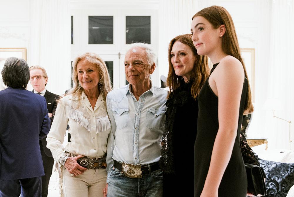 Ricky Anne Loew-Beer, Ralph Lauren, Julianne Moore and daughter Liv Freundlich