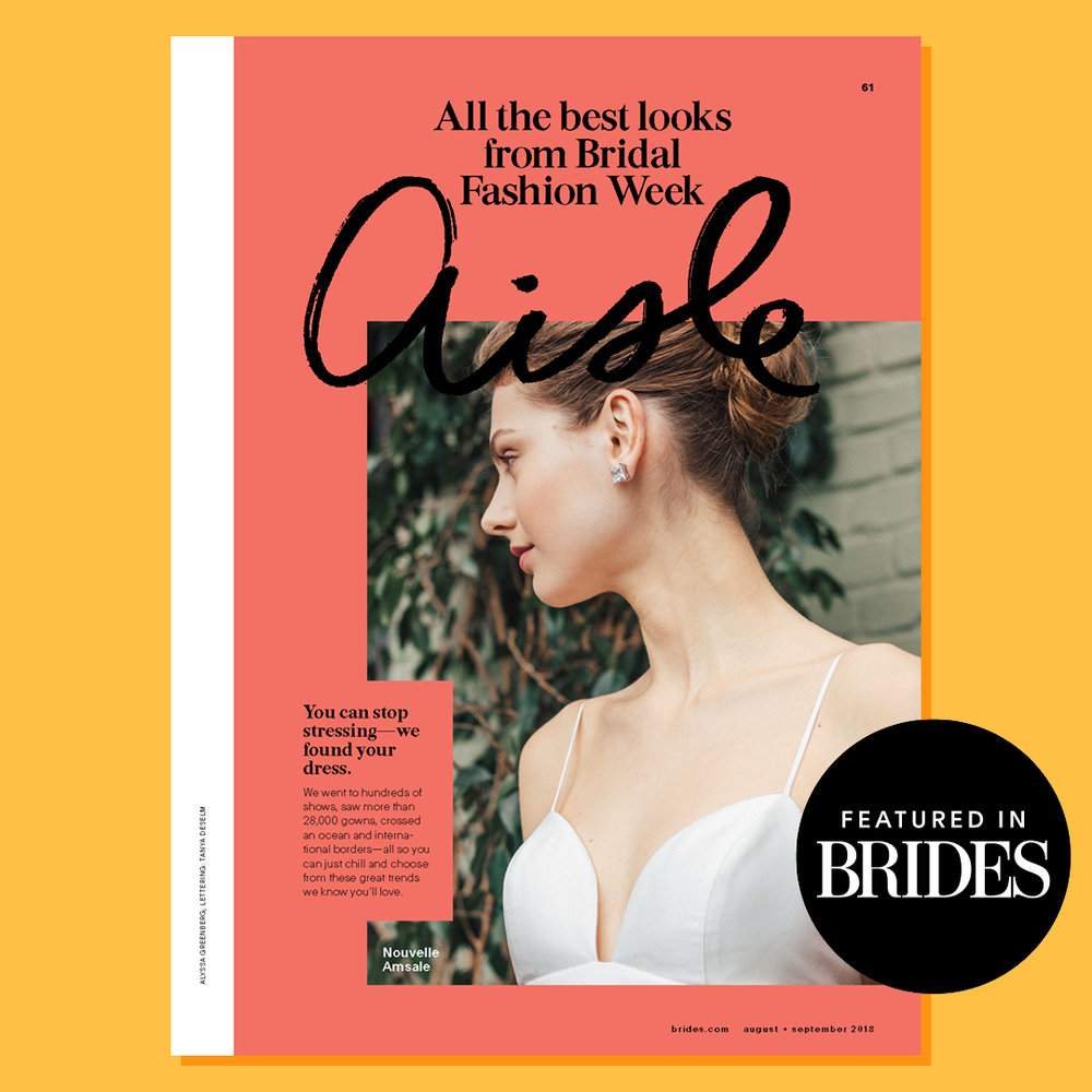 BRIDES MAGZINE - Bridal images seen in the print issue of BRIDES August/September issue.